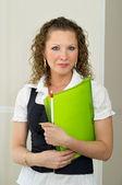 Woman office portrait — Stock Photo
