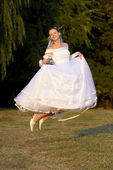 Flying bride — Stock Photo