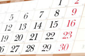 Calendar — Stock fotografie