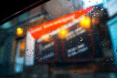 Raindrop car window background — Stock Photo