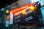Raindrop car window background — Stock Photo