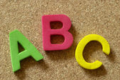 ABC letters — Stock Photo