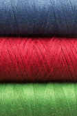 Three colored thread background — Stock Photo