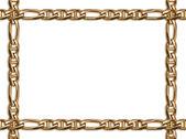 рамка золотая цепь — Стоковое фото