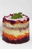 Russische haring salade — Stockfoto