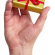 Man holding a gift box — Stock Photo