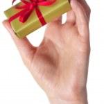 Man holding a gift box — Stock Photo