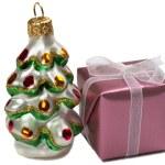 Present box and a Happy New Year tree de — Stock Photo #1293872