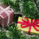 Christmas present boxes — Stock Photo