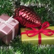 Stock Photo: Christmas present boxes