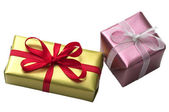 Two little present boxes — Stock Photo