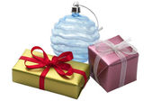 Two little present boxes and decoration — Foto de Stock