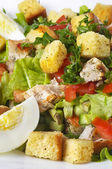 Fried chicken salad — Stock Photo