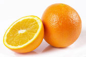 One and a half orange — Stock Photo