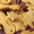Christmas ginger butter cookies — Stock Photo