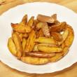 French fries potato slices — Stock Photo