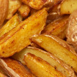French fries potato slices - Stock Photo