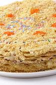 Festive Napoleon tart — Stock Photo