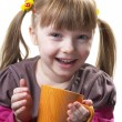 Stock Photo: Funny little girl