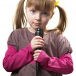 Little singer - Stock Photo