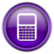 Calculator icon button - Stock Photo