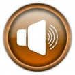 Loud speaker button — Stock Photo