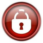 Broken lock button — Stock Photo