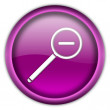 Magnifier button — Stock Photo