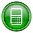 Calculator icon button — Stock Photo