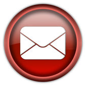 Mail envelope icon button — 图库照片