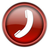 Phone icon button — Stock Photo
