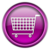 Shopping cart button — Stock Photo