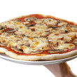 Stock Photo: Whole pizza