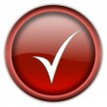 Tick button — Stock Photo