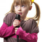 Little singer — Stock Photo