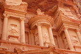 Petra,Jordan,facade,upper part — Stock Photo