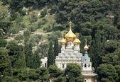 A russian orthoodox church in Jerusalem — Stock Photo