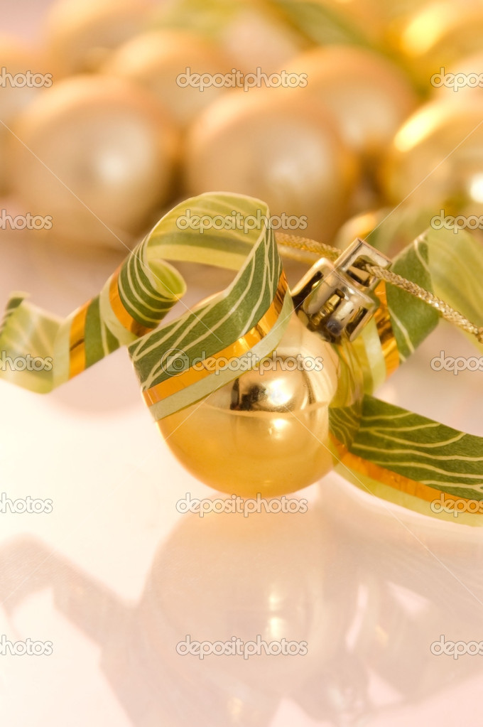 Christmas decoration set on a white background — Stock Photo #1074252