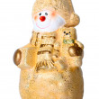 Toy Christmas snowman — Stock Photo