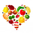 Royalty-Free Stock Photo: Fruit heart