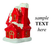 Christmas toy house — Stock Photo