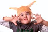 Child in costume of squirrel — Stock Photo