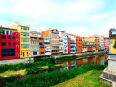 Houses in Barcelona, Spain — Stock Photo