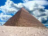Great pyramid in Egypt — Stock Photo
