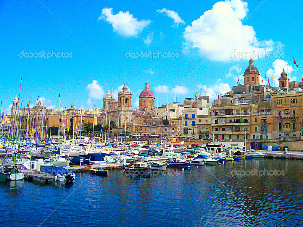 Valetta harbor view, Capital of Malta island — Stock Photo #1050010