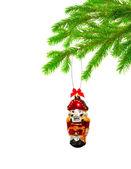 Christmas toy on tree — Stock Photo