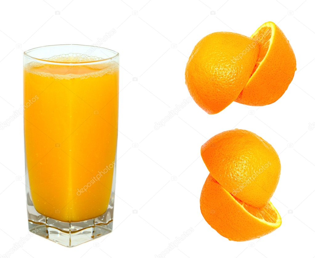 Orange juice and orange  — Stock Photo #1080490