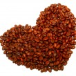 Royalty-Free Stock Photo: Heart from coffee beans close up