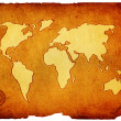 Royalty-Free Stock Photo: Old world map