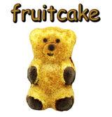 Chocolate fruitcake — Stock Photo